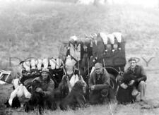 Antique 8X10 Reproduction Duck Goose Hunting Photograph Irish Water Spaniels