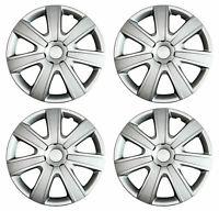 4 x Radkappen 15 Zoll Silber Carbon Radblende für Stahlfelgen Renault 85A
