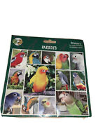 DOUBLE SIDED CRAFT STICKERS CARD CRAFT LAPTOP ENVELOPES PARROTS