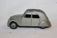 1950's Dinky #24T Citroen 2CV, Metallic Silver, Chrome Hood,  Nice Original