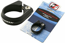 31.8mm SEAT COLLAR CLAMP PROMAX QUALITY CNC MACHINED COLD FORGED BLACK 65% OFF
