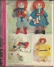 Vintage Teach Me Wardrobe - Raggedy Ann & Andy Sewing Pattern M3002