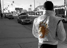 Stylish Retro Drive Embroidered Scorpion Satin Jacket