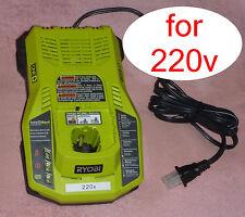 Ryobi One+ P117 18v Dual Chemistry Charger 220v 240v IntelliPort