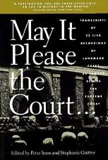 Peter Irons & Stephanie Guitton~MAY IT PLEASE THE COURT~1ST/DJ~NICE COPY