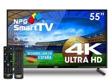 "Televisor 55"" LED NPG Smart TV Android UHD 4K + Control Remoto QWERTY/Motion"