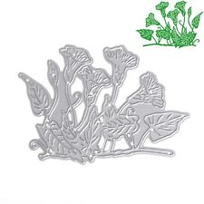 Morning Glory Dies Metal Cutting Stencil For Scrapbooking Paper Cards Decor DIY