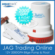 KIT AQUATRACK 2000 GPH BILGE PUMP & FLOAT SWITCH - Boat/Marine/Water/Submersible