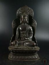 Very Large Old Chinese Bronze Made Tibeten Buddha Statue Figure of Sakyamuni