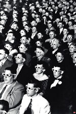 TIME LIFE 3D MOVIE VIEWERS 24x36 POSTER PHOTO IMAGE ICONIC CLASSIC B&W VINTAGE!!