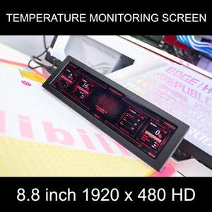 8.8 Inch 1920 x 480 HD Portable Monitor CNC Case Screen IPS LCD AIDA64 PC