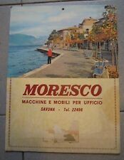 """1960ca CARTONCINO """" MORESCO """" MACCHINE E MOBILI PER UFFICIO SAVONA (MAN)"""