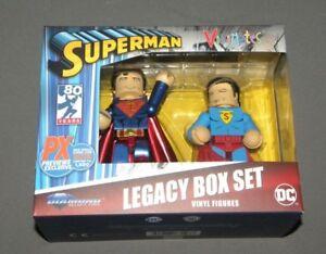 Vinimates Superman Legacy Box Set 2018 SDCC Exclusive Vinyl Figures PX Previews
