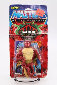 Rattlor MOTU Vintage Masters of the Universe Figure Mattel 2036 On Card 1985