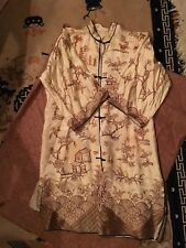 vintage chinese robe gold thread embroidery