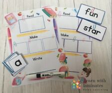 CVC & CCVC. Word Building Activity. Educational Resource. Home Learning. Phonics