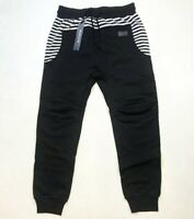 Hudson Outerwear 100% AUTHENTIC Men's LARGE black and White Stripes Joggers