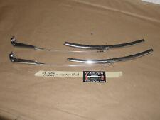OEM 63 Pontiac Catalina WINDSHIELD WIPER ARM LINKAGES & BLADES (PAIR)