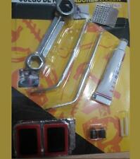 4219- Kit Reparacion 13 piezas Pinchazos Ruedas Moto Parche Bicicleta Colchoneta