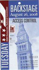 Backstage Pass Credential 2008 Democratic Convention