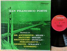 SAN FRANCISCO POETS LP: Readings by FERLINGHETTI GINSBERG ANTONINUS REXROTH etc