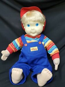 Vtg Playskool My Buddy Doll Blonde Hair Blue Eyes 1985 Blue Overalls No Shoes