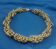 Stainless Steel Trizantine Chain Maille Bracelet Chainmaille Handcrafted by Me
