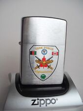 CANADIAN MILITARY TASK FORCE AFGHANISTAN ZIPPO CHROME LIGHTER CANADA TROOPS NIB