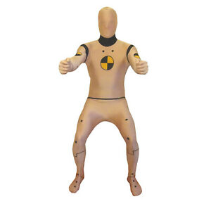 Crash Test Dummy Morphsuit Fancy Dress Costume Party Festival Halloween Stag Do