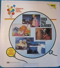 Vintage Videodisc FAIRY TALE CLASSICS - ALI BABA CINDERELLA THE UGLY DUCKING CED