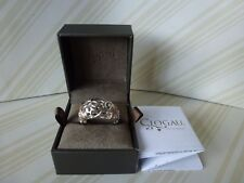 Clogau Welsh Gold, Silver & Rose Gold, Am Byth Diamond Ring Size N RRP £270