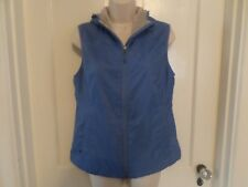 Womens L.L. Bean Lined Hooded Outer Vest Zip Blue Sleeveless XS