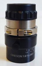 BAUMER KREUZNACH CINEGON 1.8/16-0901 LENS 1001482 F1.8-16mm