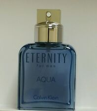 Eternity Aqua by Calvin Klein for Men 3.4 FL.Oz Eau De Toilette Spray Tst New
