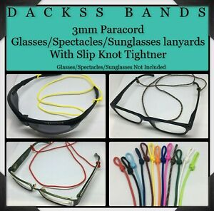 Glasses Spectacle Sunglasses 3mm Paracord Lanyard With Slip Knot Tightener