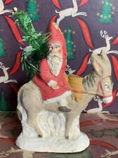 Vintage German Dresden Father Christmas Tree Decoration Papier Mache  Donke