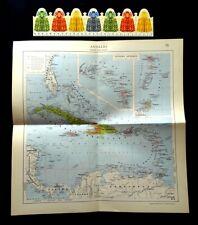 Antique Original Map : West Indies, Jamaica, Puerto Rico,, Edition : 1953, (GB).