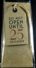 East of India DO NOT OPEN UNTIL 25 December Large Tags No 2182 Paper Crafts