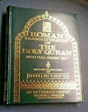 Roman Transliteration-The Holy Quran (Ara/Eng/Trans.)A. Y. Ali-Hard Cover