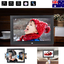 "Electric 12"" HD LED Digital Photo Picture Frame MP3/4 Player+Remote Control AU"