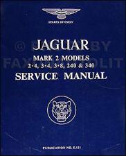 Jaguar workshop Manual Mk2 II 240 340 Factory Service Repair Book