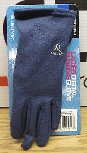 NEW Head Ladies Size S, M, L Digital Running Glove Gloves W/Sensatec Touch Blue