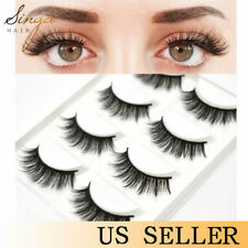 5Pairs 3D Faux Mink False Eyelashes Natural Thick Wispy Fluffy Extensions Lashes