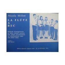 MILLOT Nicole La Flûte à Bec Méthode 1970 partition sheet music score