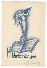 ISTVAN D. SZABO: Exlibris für Maria; verhinderte Geigerin, Notenblatt