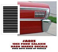 A823 1963 FORD GALAXIE - REAR QUARTER - HASH MARKS DECAL KIT