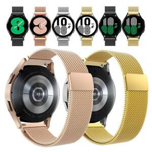 für Samsung Galaxy Watch4 Armband, 20mm lug Edelstahl Milanaise Loop Ersatzband
