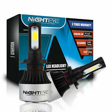 Nighteye 72W 9000LM H7 LED Headlight Kit Bulbs 6500K Ultra Bright Lamp Light 2X