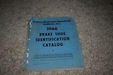 Friction Materials Standards Inst Inc brake shoe identification catalog 1966