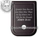for Glock Magazine Plate 17 19 22 23 26 27 34 35 9mm 40cal Bible John 15:13